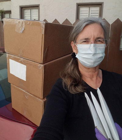 Mailing PPE to midwives around the state